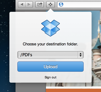 Dropbox Safari Extension